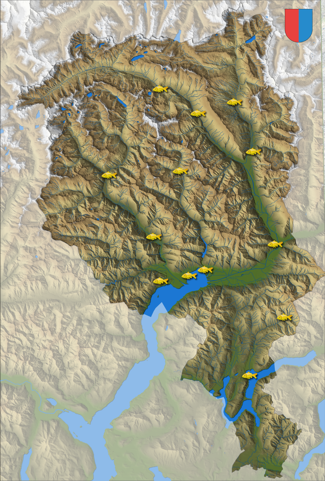 Cartina Geografica Canton Ticino Svizzera.Ftap Federazione Ticinese Per L Acquicoltura E La Pesca